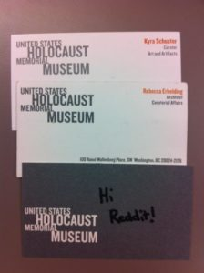 USHMM Proof on Reddit