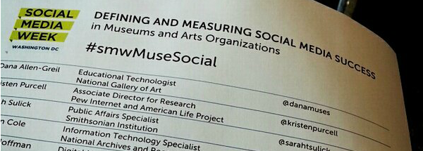 #smwMuseSocial – Defining and Measuring Social Media Success in Museums and Arts Orgs