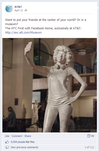 AT&T HTC Facebook post