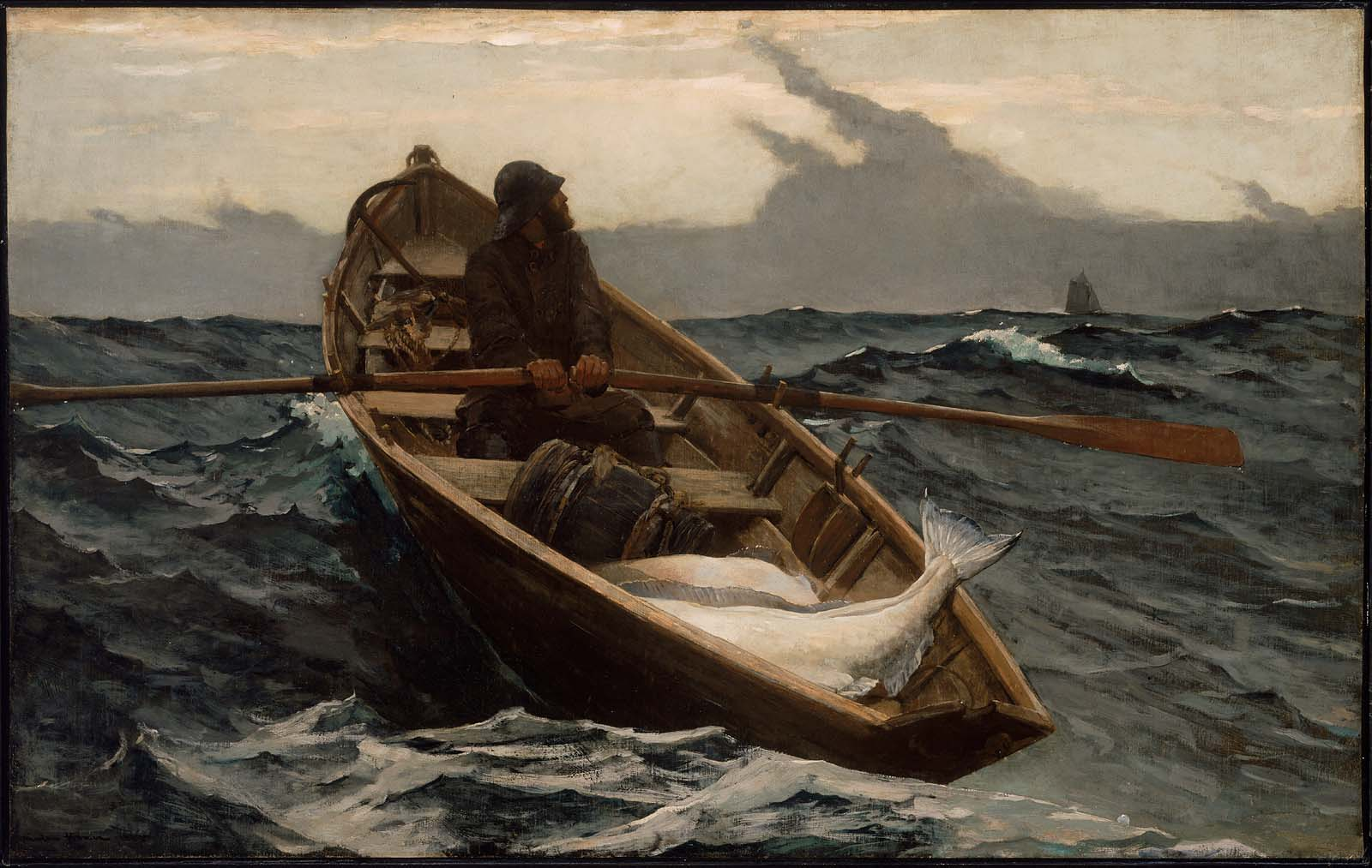 "Winslow Homer, ""The Fog Warning,"" 1885"