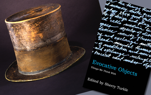 Evocative Objects - Lincoln's Hat and book cover