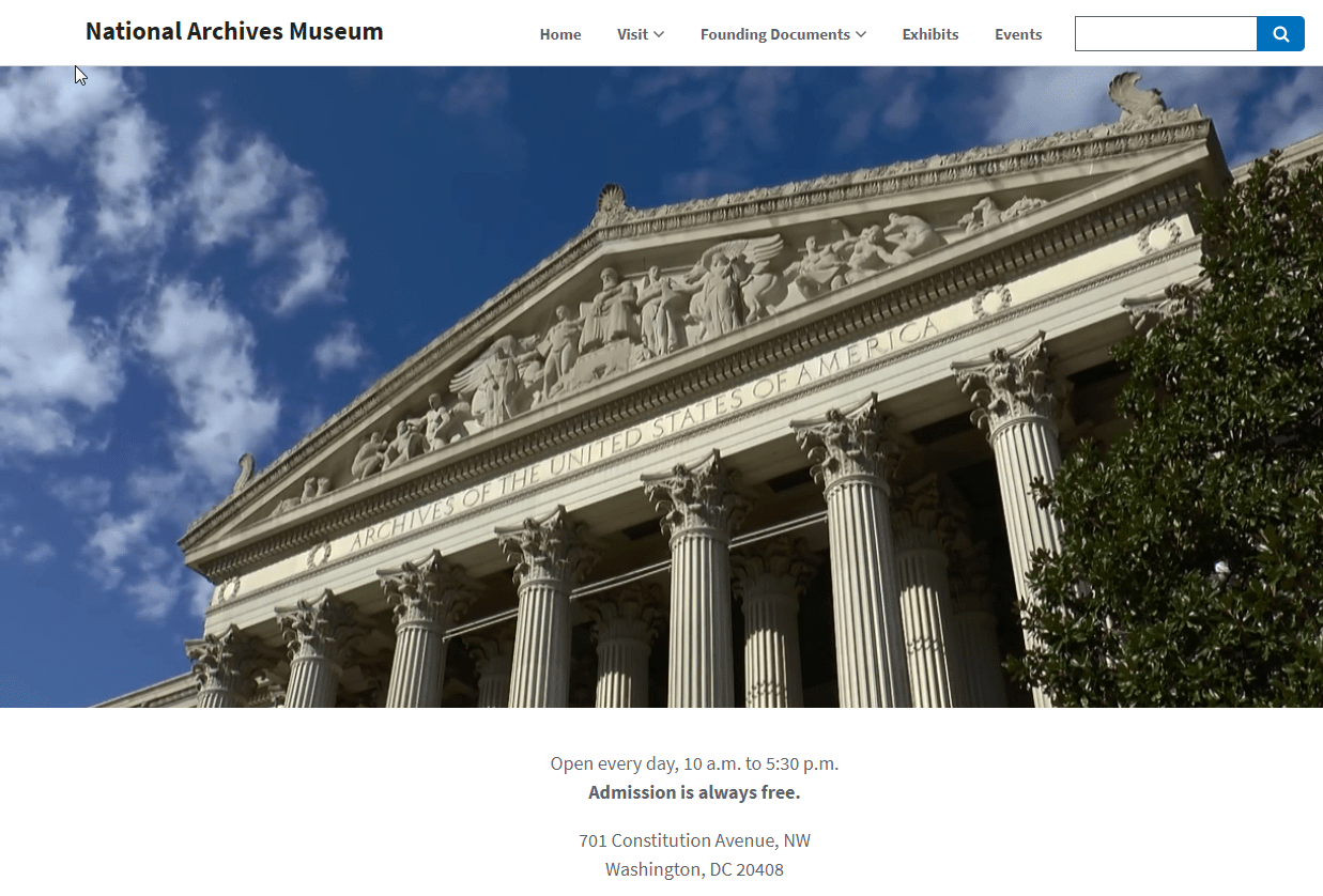 National Archives Museum Redesign